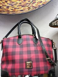 Red And Black Checkered Dooneyamp;Bourke Tote Purse $150.00