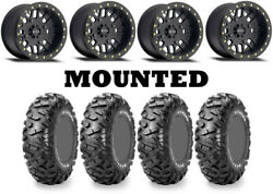 Kit 4 Maxxis Bighorn Radial 26x10-15 On Method 406 Beadlock Matte Black Ter