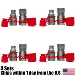 4 Sets Hydraulic Quick Connect Couplers Fits Parker Fe Series Fem-501-8fo