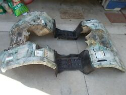 2007 Yamaha Grizzly 450 4x4 Front Rear Plastic Fenders / Rough Looking Cracked F