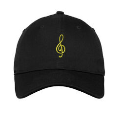 Soft Women Baseball Cap Treble Clef Embroidery Dad Hats for Men Buckle Closure $14.99