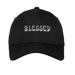Soft Women Baseball Cap Blessed Embroidery Dad Hats for Men Buckle Closure $14.99