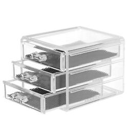 Cosmetic Clear Storage Box Makeup Drawers Organizer Box Jewelry Container Case $24.98