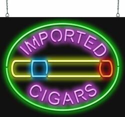 Imported Cigars Neon Sign | Jantec | 2 Sizes | Smoke Shops Cigarettes Cigars