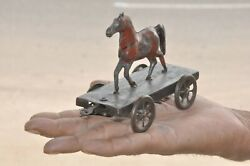 Vintage Early German Fine Horse Pull Along Tin Toy, Germany/france