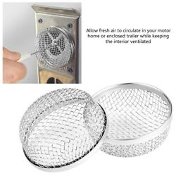 2x Rv Furnace Vent Cover Flying Insect Bug Screen Camper Heater Stainless New