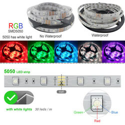 16ft 32ft 5050 Smd Rgb Led Strip Light Kits Remote Power Room Party Fairy Lights