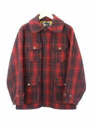 Used Woolrich Wool Rich 503 Hunting Field Jacket The 50S Size 40 Red Black NJ046