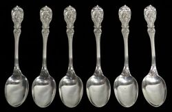 Reed And Barton Francis I 6 Sterling Silver 6 3/4 Oval Soup Spoons