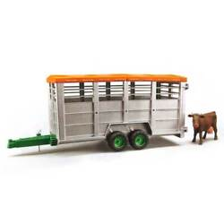 1/16 Cattle/livestock Trailer W/ Cow By Bruder 2227