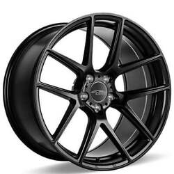4ea 20 Staggered Ace Alloy Wheels Aff02 Matte Black Rimss45