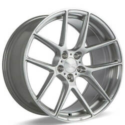 4ea 22 Staggered Ace Alloy Wheels Aff02 Silver Brushed Rimss45