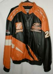Tony Stewart 2002 Winston Cup Champion Home Depot Men's Chase Leather Jacket 2xl