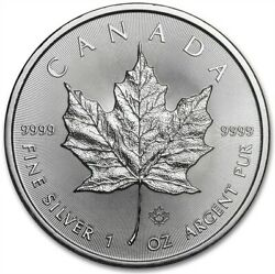 2015 1 oz Canadian Silver Maple Leaf $5 Coin 9999 Fine Silver BU $30.63