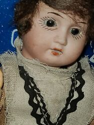 Vintage Bisque GERMANY Doll 8.5quot; E amp; S 17 0 SLEEPY EYE Composition EMIL SCHWENK