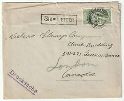 1927 Rare Aberdeen Paquebot On Iceland Cover To Victoria Stamp Co In Canada