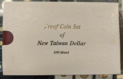 1993 Taiwan 5 Coin Proof Set Extremely Rare Free Shipping