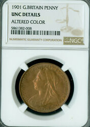 1901 Great Britain Penney Ngc Mac Ms63 Rb Gorgeous Toning
