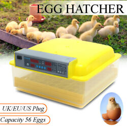 56 Automatic Egg Incubator Digital Hatching Poultry Chicken Temperature Control