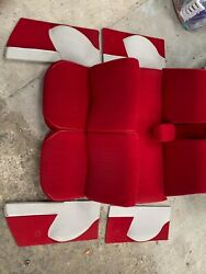 Citroen Ds 192123 Ds Super Ds Special Full Red Fabric Interior - Seats