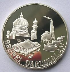 Brunei 1987 20th Anniversary Of Asean 1oz Silver Medalproof