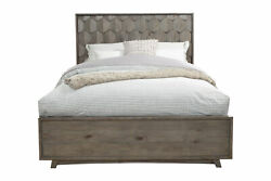 Alpine Furniture Shimmer Bed Antique Grey
