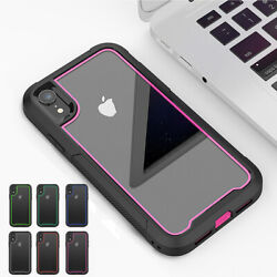 Hybrid PC Dual Layer Soft For iPhone 11 Pro X XS XR Max Rugged Bumper Case Cover $5.92