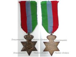 Greece Wwii Military Medal Commemorative Star Land Army Operations Italy Rare Vs