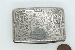 Antique English Silver Egyptian Campaign Nelson Snuff Box C1806 Matthew Linwood