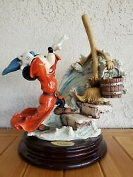 Giuseppe Armani Mickey Mouse The Sorcerer's Apprentice Disney Hand Sign Mib Coin