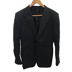 Tom Ford Wool Suit Jacket And Trousers Sharkskin Wool Oandrsquoconnor Black Size 38