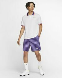 Nwt 70 Menand039s Nike Nikecourt Slam Dry-fit Tennis Shorts Awesome Color Multi Size