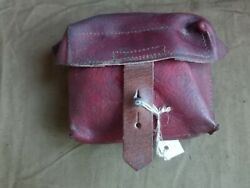 Authentic Russian Soviet Army, Mosin Nagant Leather Ammo Pouch Svt/avt Wwii