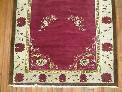 Vintage Wine Bessarabian Turkish Pile Rug Size 4and0392and039and039x7and0392and039and039