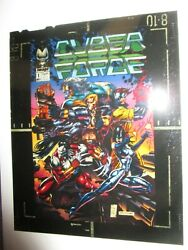 Cyberforce 1 Cover Acetate Proof Art Image 1992 Marc Silvestri Key Rare Top Cow