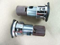 2 Two Oem Gm Auxillary Accessory Power Outlet Cigarette Lighter W/ Caps 25774623