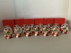 Jcpenney Disney Mickey Mouse Miniature Snow Globe 2006 - Lot Of 14