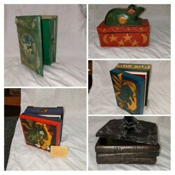 Frog Collectible Lot Piece Boxes Containers And Figurines