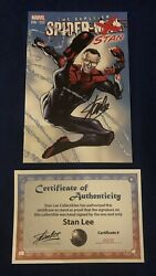 Superior Spider-man 16 Stan Color Variant Signed By Stan Lee With Coa Limited
