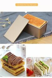 Nonstick Rectangular Carbon Steel Loaf Bread Cake Pan Toast Box With Cover