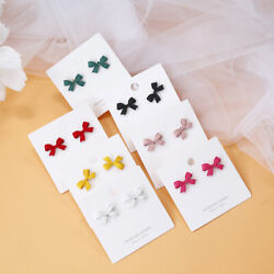 1 Pair Hot Fashion Vintage Alloy Bow Bowknot Stud Earrings Unique Charm Jewelry