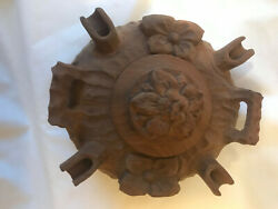 La Grolla 4 Spout Hand Carved Wood Coffee Liquor Friendship Bowl From Cervina