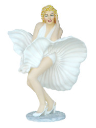 Blonde Actress In White Dress Famous Pose Life Size Statue