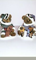 Christmas Bears Ks Collection Figurines Sparkly. Set Of 2. Each One Is 5 Tall
