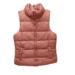 Old Navy Juniors Puffers Antique Coral Size Medium Zip Pockets New