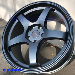 Rosenstein Cr 18 +38 Blue Flow Forged Staggered Rims 5x4.5 Fit Infiniti G35 G37