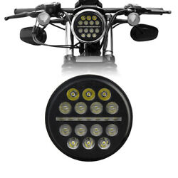 5-3/4 5.75inch Led Projector Headlight Hi/lo Drl For Motorcycles Dyna Round