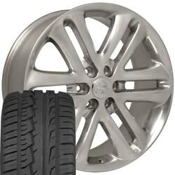 3918 Polished 22 Wheel And Ironman Tire Set Fits Ford F150 And Expedition
