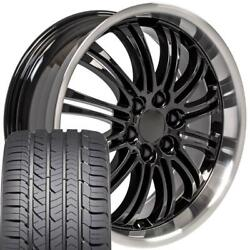 Black 22x9 Wheel And Tire Fits Chevy Gm Escalade Goodyear Tires 5413 Set