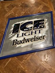 Ice Light Budweiser Mirror For Man Cage